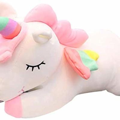 45Cm Pink Unicorn Plush Toy Stuffed Animal Pillow Cushion Soft Toys for Baby Kids (Pink)