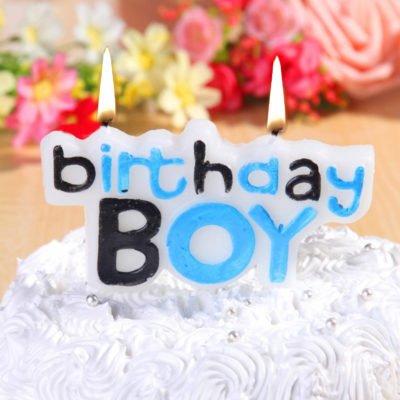 Birthday Boy Theme Candle Set Of 5 For Baby Boy, Kids, 1st Birthday Cake Party Decoration