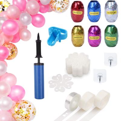 Balloon Garland, Arch, Decorating Strip Kit for DIY Balloon Garland, DIY Balloon Arch Kit, Balloon Streamers, Balloon Display, Balloon Design for Birthday Wedding Party Set of 19