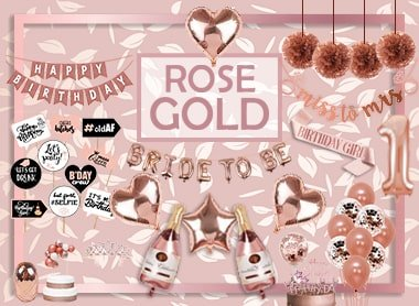 ROSE GOLD theme party decoration birthday decoration items baby shower bride to be decoration party supply party propz