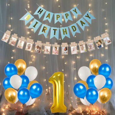 Party Propz Happy Birthday Latex Balloon, 34 Piece, Blue