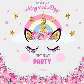unicorn theme birthday decoration